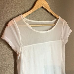 EXPRESS - Sheer Shoulder Top